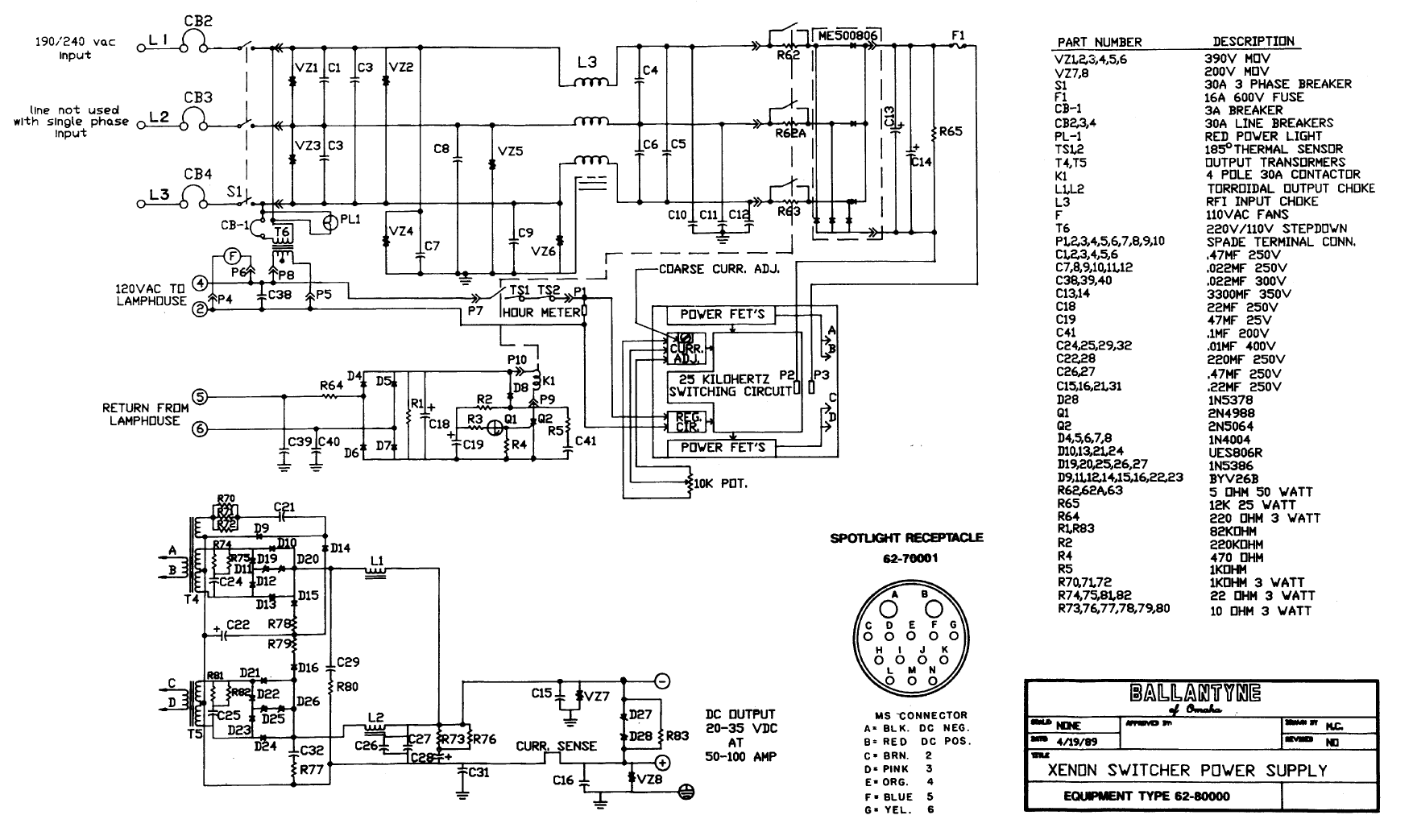 Schematic Xenon Wiring Diagram on